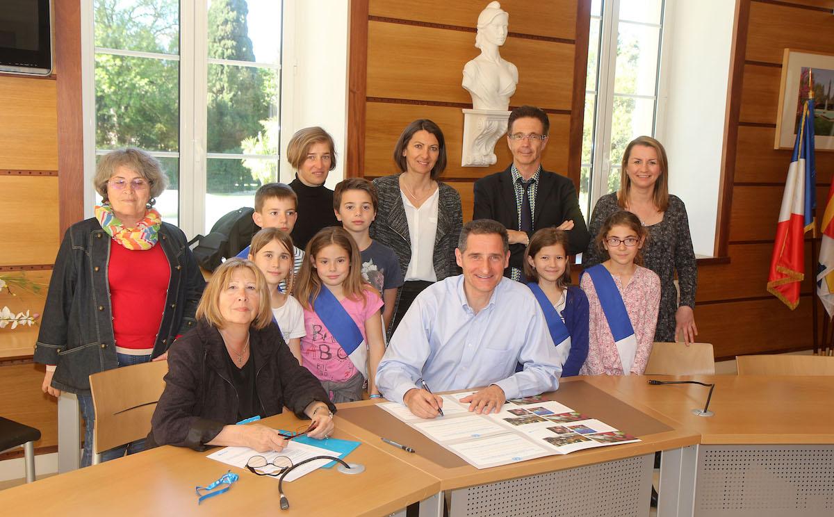 Signature de la convention UNICEF