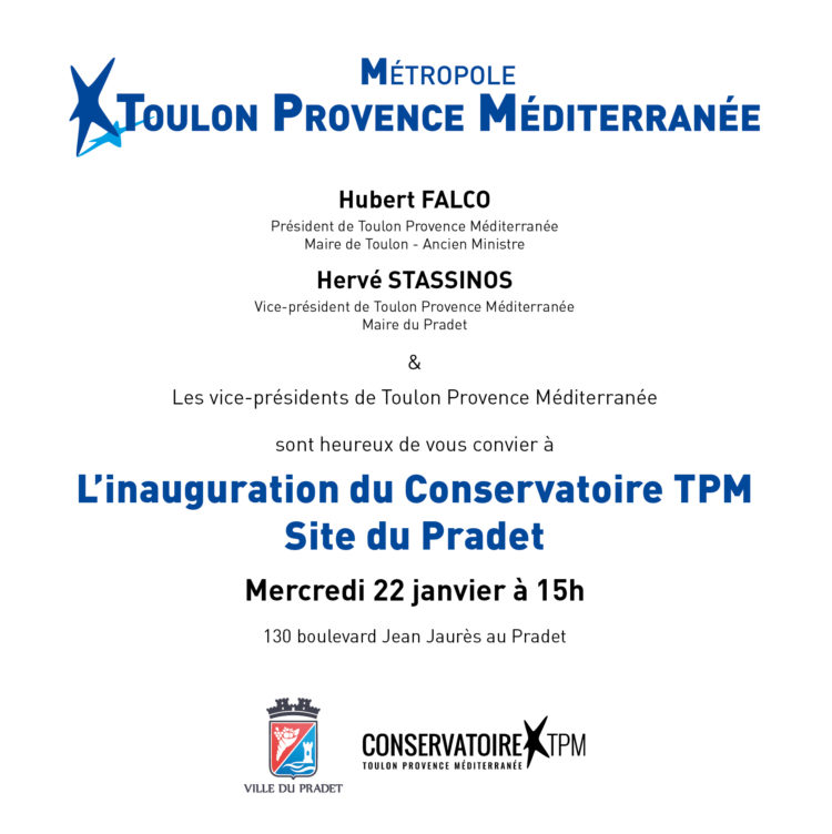 Invitation - Inauguration Conservatoire TPM